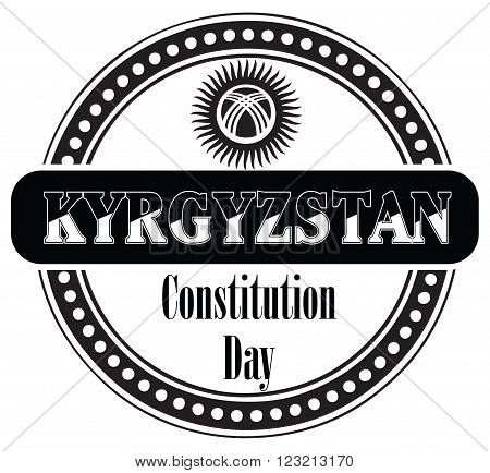 Constitution Day in Kyrgyzstan celebrated on May 5. Vector illustration.