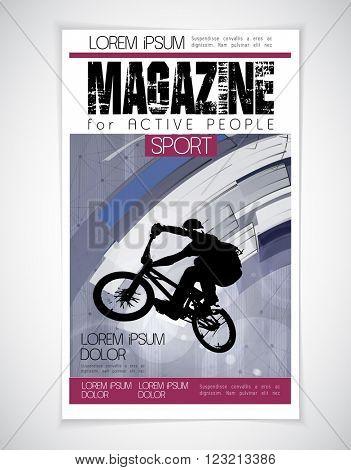 Sport cover magazine, vector