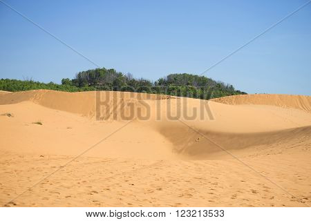 View over the Red dunes. Mui Ne, Vietnam