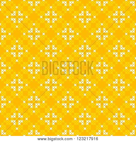 Seamless texture with white and yellow abstract patterns for tablecloth.Embroidery.Cross stitch.