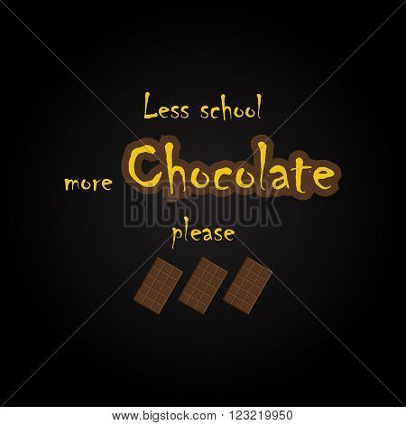 Humorous chocolate quotes - funny inscription template