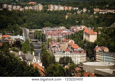 street view in Karlovy Vary hotels in Karlovy Vary Carlsbad Czech Republic Europe