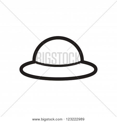 stylish black and white icon English hat