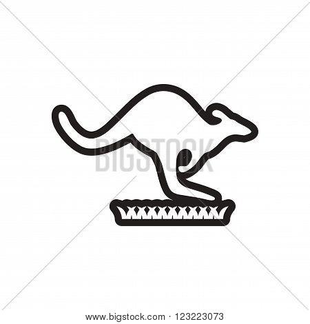 stylish black and white icon Australian kangaroo