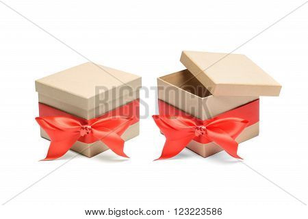 Small carton box isolated on white background