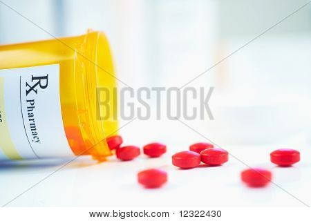 Rx Prescription Drug Bottle