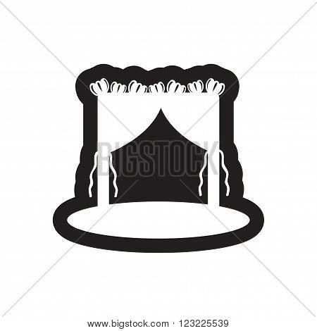 Flat icon in black and white wedding arch