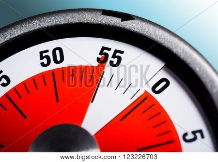 Macro Of A Kitchen Egg Timer - 55 Minutes