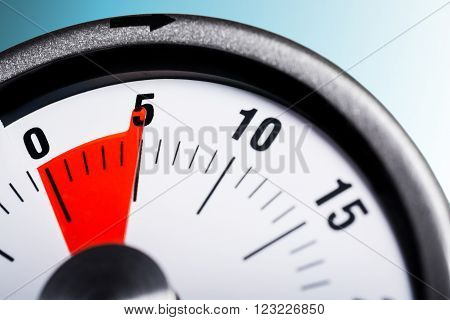 Macro Of A Kitchen Egg Timer - 5 Minutes