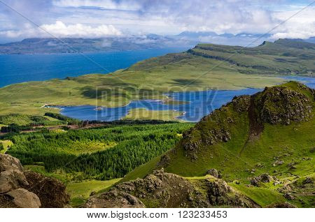 Green landscape on the Isle of Skye in Scotland ** Note: Soft Focus at 100%, best at smaller sizes