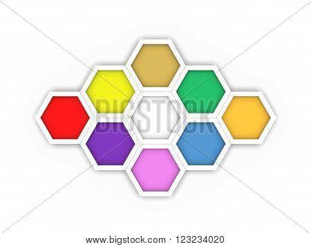 Octagon template layout for business concept - 3D Rendering