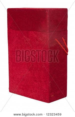 Rote Velour-Box