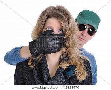 Scared Woman Victim