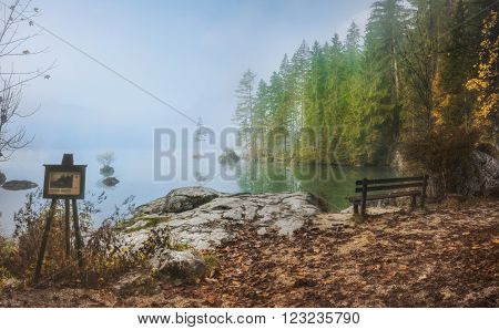 The Hintersee is a mountain lake in the Berchtesgaden National Park. ** Note: Soft Focus at 100%, best at smaller sizes