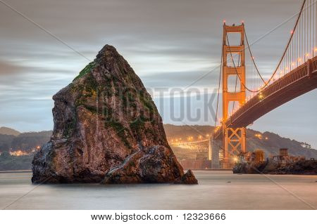 Golden Gate And Rock
