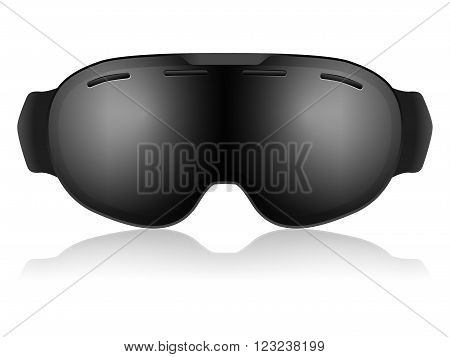 Ski goggles on a white background Vector illustration.