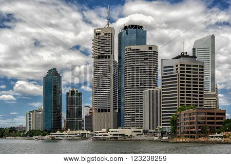 Brisbane waterfront ion the Brisbane River in Queensland