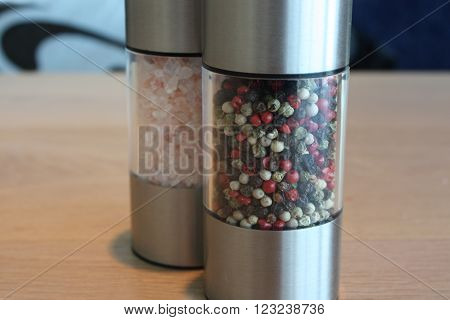Salt and pepper mix. Food ingredients for cooking. ** Note: Soft Focus at 100%, best at smaller sizes