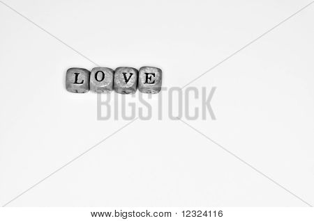 Love Word Made Of Alphabet Wooden Beads
