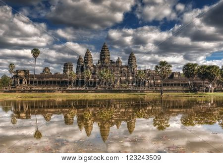 SIEM REAP, CAMBODIA. December 16, 2011.Angkor Wat Temple