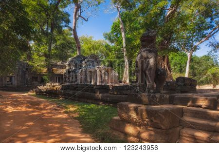 SIEM REAP, CAMBODIA. December 16, 2011. The hidden jungle temple ta prohm near angkor wat in siem reap,cambodia is one of the most fascinating places on planet earth.