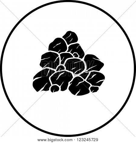 pile of rocks or coal symbol