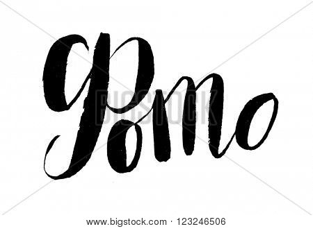 Photo - russian vector handwritten lettering