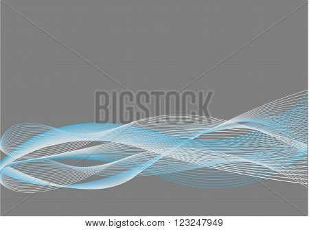 Blue, White and Grey Abstract Background with Blend