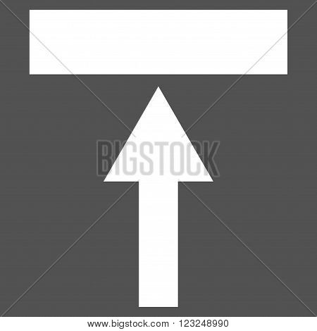 Move Top vector icon. Image style is flat move top pictogram symbol drawn with white color on a gray background.
