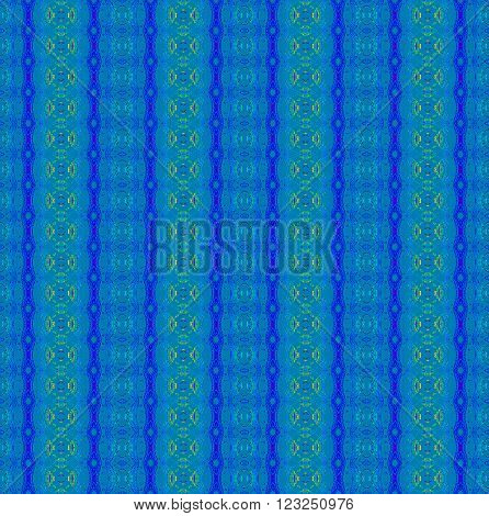 Abstract geometric background. Seamless stripes and diamond pattern in light blue and dark blue with elements in yellow and light green.