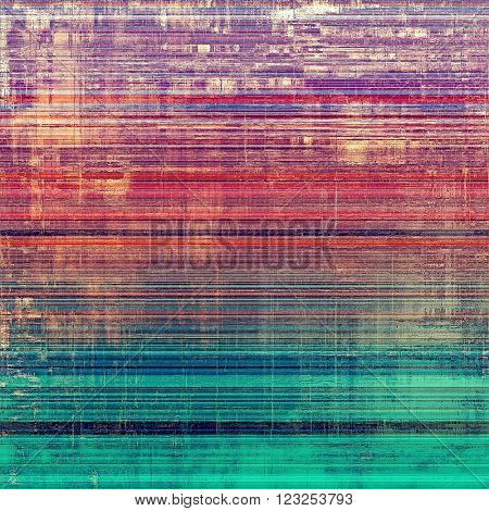 Scratched vintage colorful background, designed grunge texture. With different color patterns: blue; yellow (beige); purple (violet); red (orange); pink