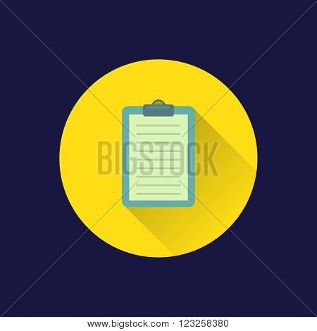 Dark background with flat document case symbol. eps10