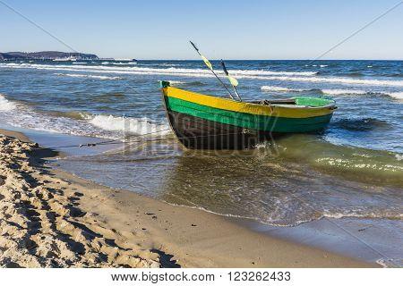 Old Wooden Boat Fishermen.