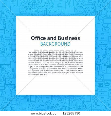 Paper Over Office Business Line Art Background