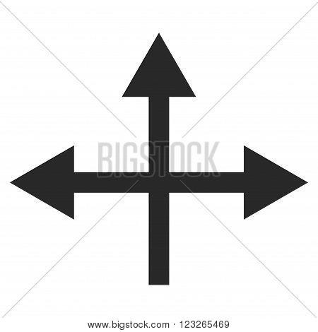 Intersection Directions vector icon. Intersection Directions icon symbol. Intersection Directions icon image. Intersection Directions icon picture. Intersection Directions pictogram.