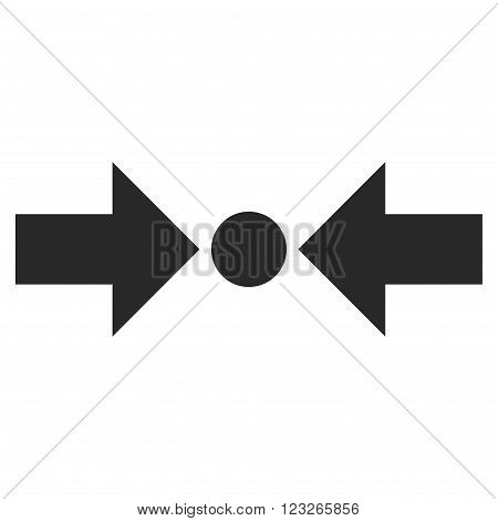 Pressure Horizontal vector icon. Pressure Horizontal icon symbol. Pressure Horizontal icon image. Pressure Horizontal icon picture. Pressure Horizontal pictogram. Flat gray pressure horizontal icon.