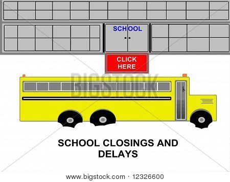 School Bus School Closings and Delays
