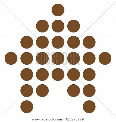 Dotted Arrow Up vector icon. Style is flat icon symbol, brown color, white background.