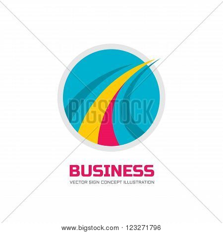 Abstract vector logo concept illustration. Circle and abstract lines logo sign. Business corporation logo. Transport logo sign. Speed logo sign. Vector logo template. Design element.
