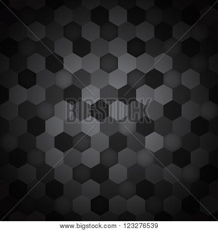 Seamless hexagon pattern abstract background, Vector illustration