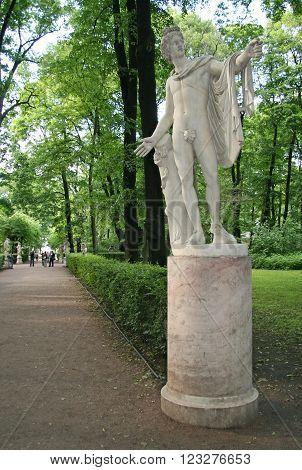 St. Petersburg, Russia - June 26, 2008: Statue In Summer Garden, St.petersburg, Russia.