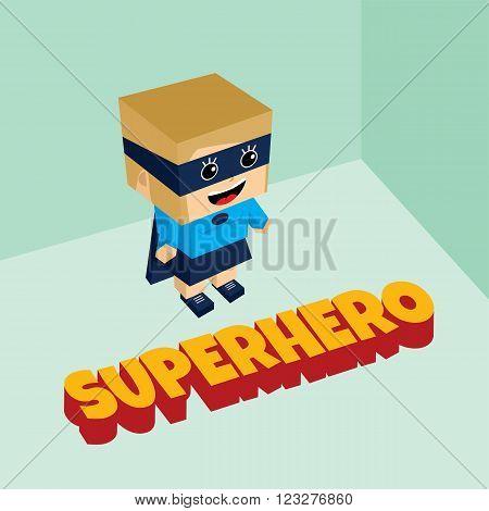 Amazing Female Superhero Isometric Theme