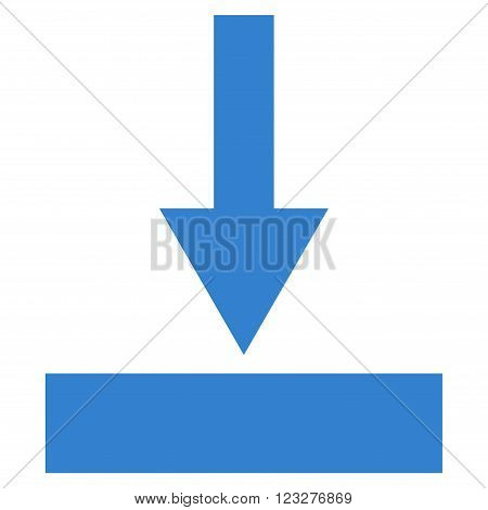 Move Bottom vector icon. Style is flat icon symbol, cobalt color, white background.