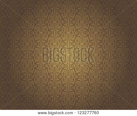 Brown vintage background repetitive pattern decorative design