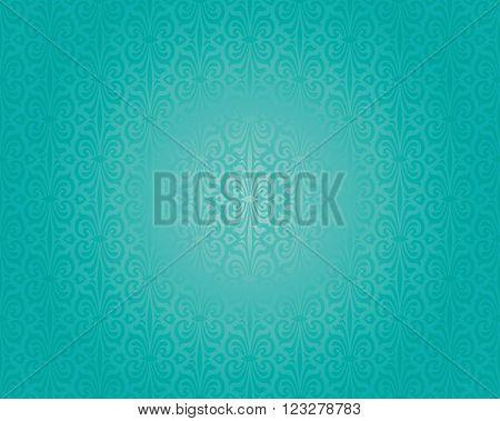 Retro green blue holiday decorative vintage background design