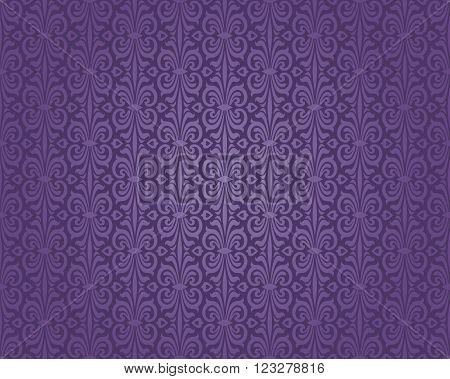 Retro violet decorative pattern  decorative background design