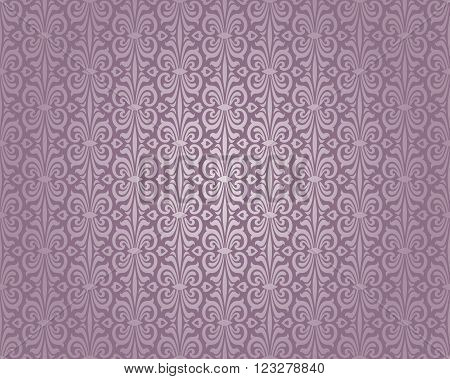 violet and silver luxury vintage pattern background
