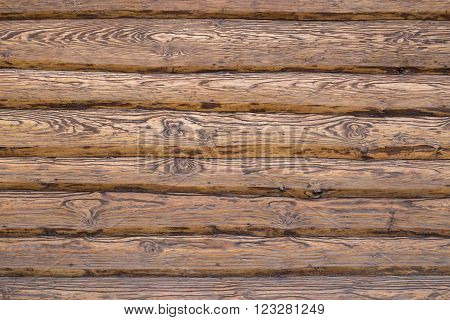 Plank coating of a wall as a textured background