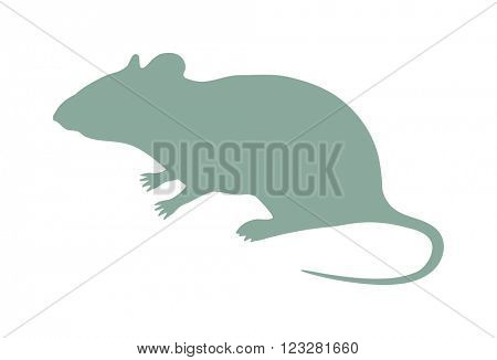 Wild rat, mouse animal flat vector silhouette and wild animal symbol. Animal silhouette. Wild life animals silhouette. Vector silhouette wild animal zoo vector.