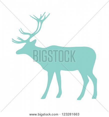 Wild deer animal flat vector silhouette and wild animal symbol. Animal silhouette. Wild life animals silhouette. Vector silhouette wild animal zoo vector.